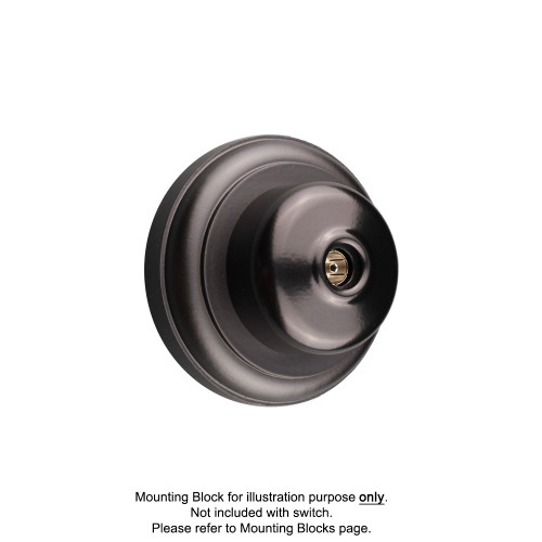 Black Clipsal Heritage Round TV Aerial Sockets