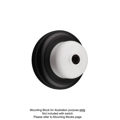 White Clipsal Heritage Round Telephone Sockets