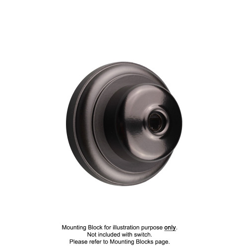 Black Clipsal Heritage Round Telephone Sockets