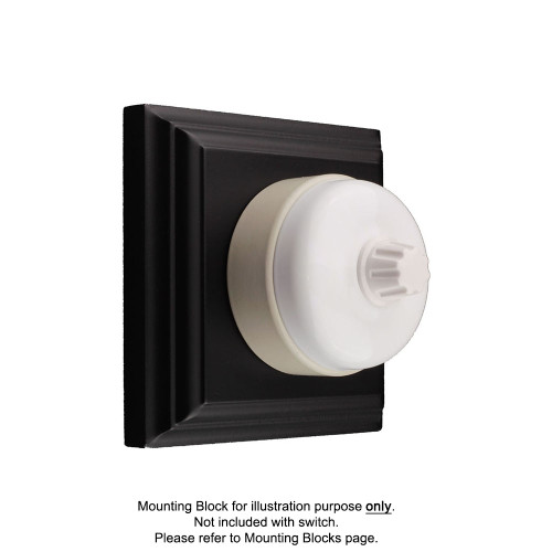 White on White Porcelain Base Heritage Dimmers