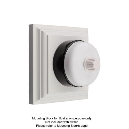 White on Black Porcelain Base Heritage Dimmers