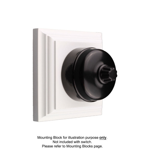 Black on Black Porcelain Base Heritage Dimmers