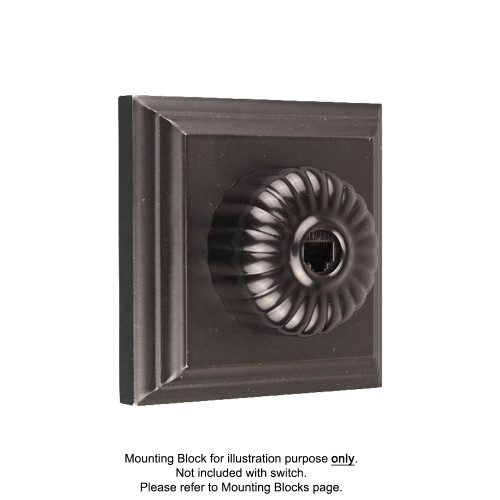 Black Clipsal Heritage Fluted Telephone Sockets