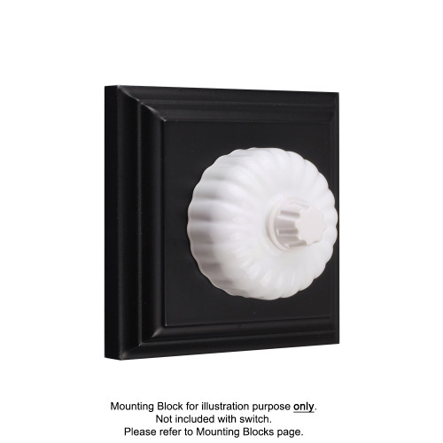 White Clipsal Heritage Fluted Dimmers