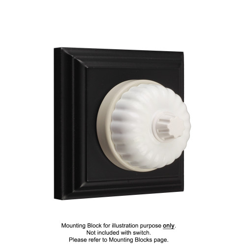 White on White Porcelain Base Heritage Fluted Dimmers