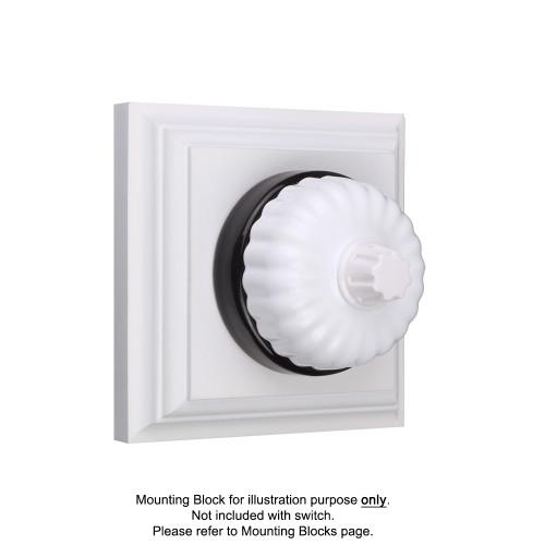 White on Black Porcelain Base Heritage Fluted Dimmers
