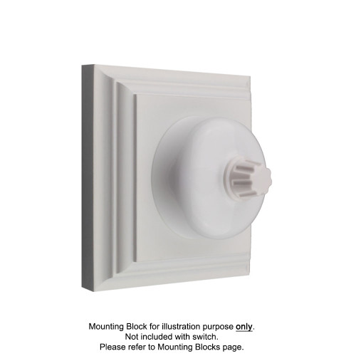 White Clipsal Heritage Round Three Speed Fan Controller