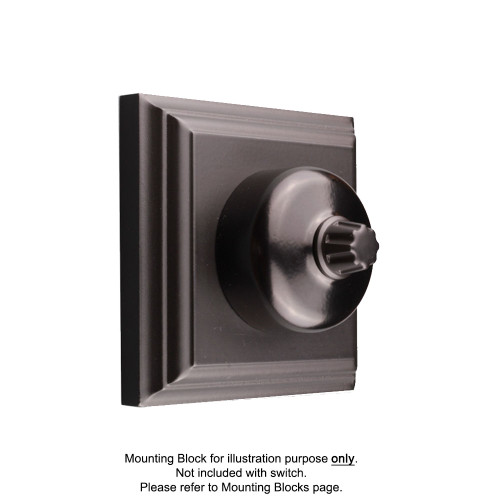 Black Clipsal Heritage Round Three Speed Fan Controller