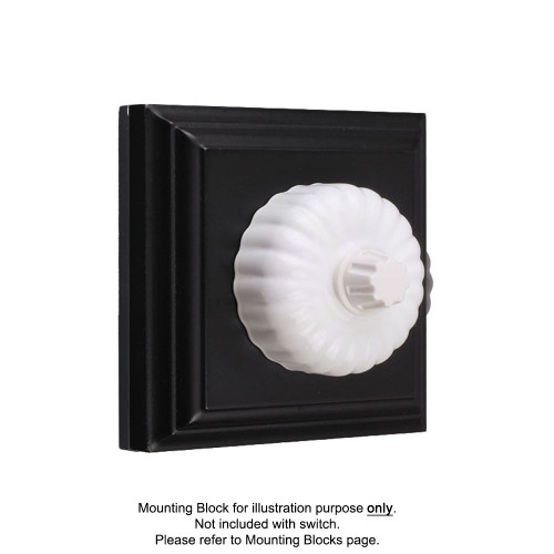 White Clipsal Heritage Fluted Three Speed Fan Controllers