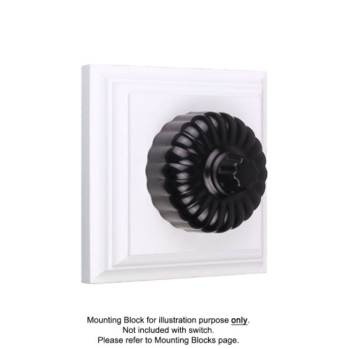Black Clipsal Heritage Fluted Three Speed Fan Controllers