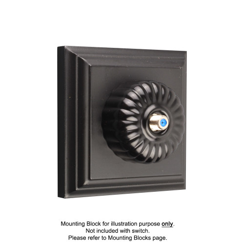Black Clipsal Heritage Fluted Pay TV Aerial Sockets