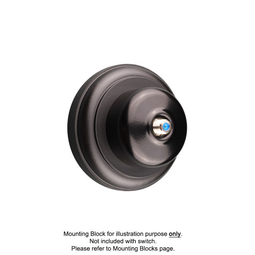 Black Clipsal Heritage Round Pay TV Aerial Sockets