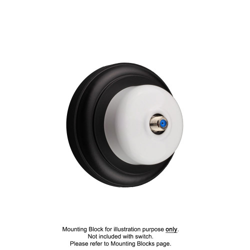 White Clipsal Heritage Round Pay TV Aerial Sockets
