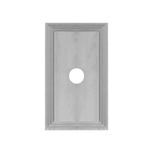 Classic Under Coated Mounting Block - 1 Gang Oblong