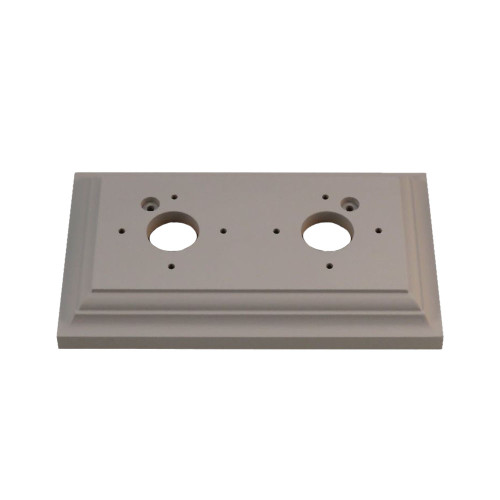 Classic Under Coated Mounting Block - 2 Gang Oblong ( Pre Drilled )