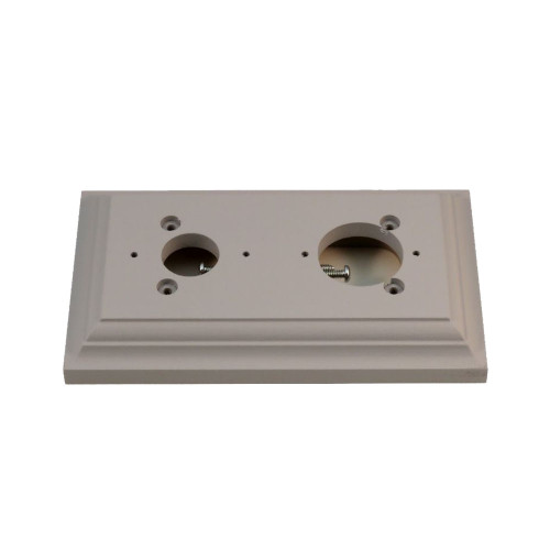 Classic Under Coated Mounting Block - 2 Gang Oblong (With Pre-Drilled Holes)