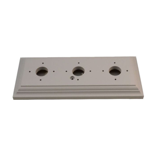 Classic Under Coated Mounting Block - 3 Gang Oblong