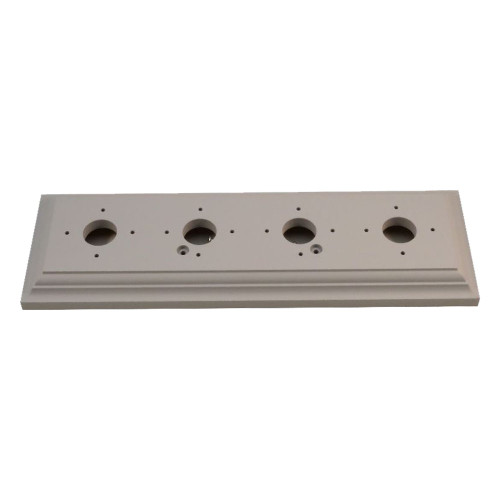 Classic Under Coated Mounting Block - 4 Gang Oblong