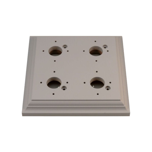 Classic Under Coated Mounting Block - 4 Gang Square