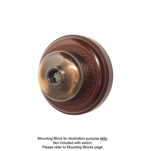 Old Heritage Clipsal Classic TV Aerial Socket Smooth Covered - Florentine Bronze