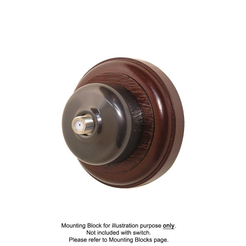 Old Heritage Clipsal Classic Pay TV Aerial Socket Smooth Covered - Non-Relieved Bronze