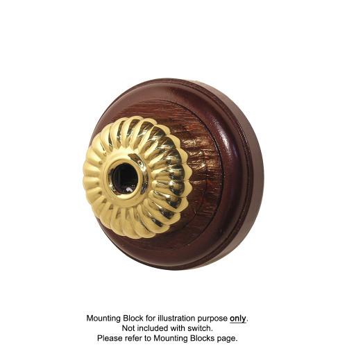 Clipsal Heritage Style Ribbed Telephone Socket - Brass