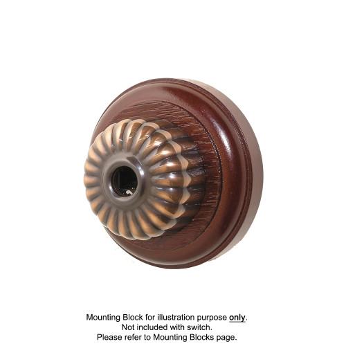 Clipsal Heritage Style Ribbed Telephone Socket - Florentine Bronze