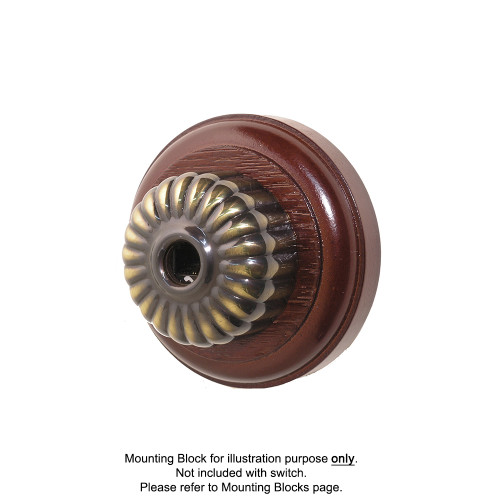 Clipsal Heritage Style Fluted Data Socket - Antique Brass