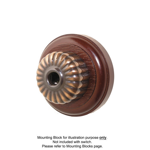 Clipsal Heritage Ribbed Style Data Socket - Florentine Bronze