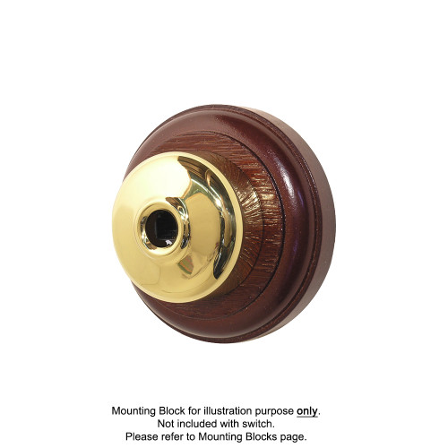 Old Heritage Clipsal Classic Telephone Socket Smooth Covered - Brass