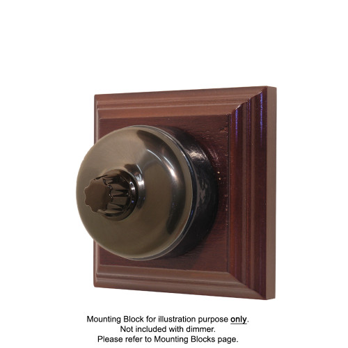 Classic Clipsal Three Speed Fan Controller With Black Ceramic Base - Non-Relieved Bronze
