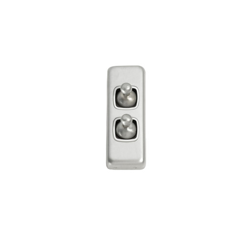 2 Gang Architrave Satin Chrome- 5971