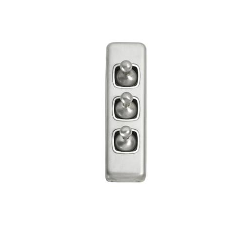 3 Gang Architrave Satin Chrome- 5956
