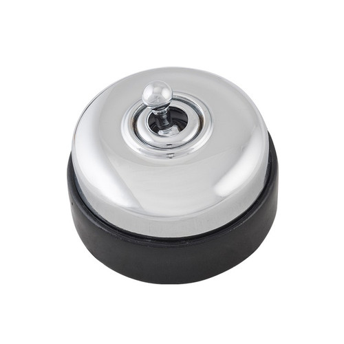Nostalgic Porcelain Base Switch with Chrome Plated Cover 5115