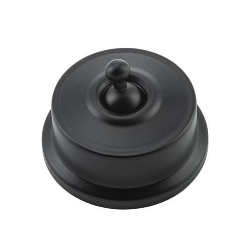 Federation Light Switch Matte Black-5320