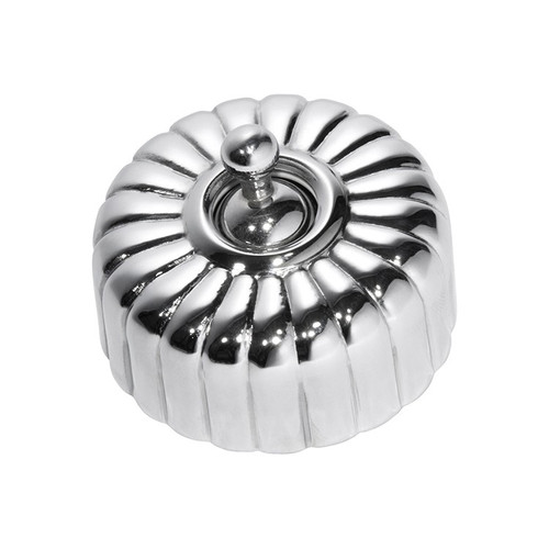 Fluted Light Switch Chrome-5781