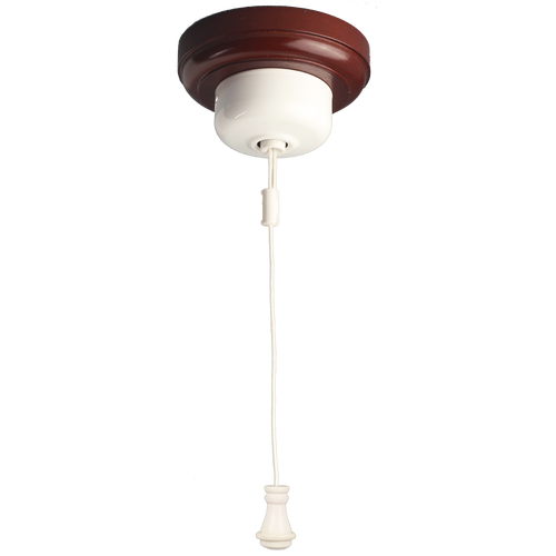 Ceiling Pull Switch White with White Cord Weight