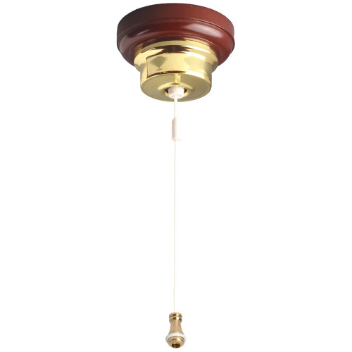Federation Ceiling Pull Switch Polished Brass