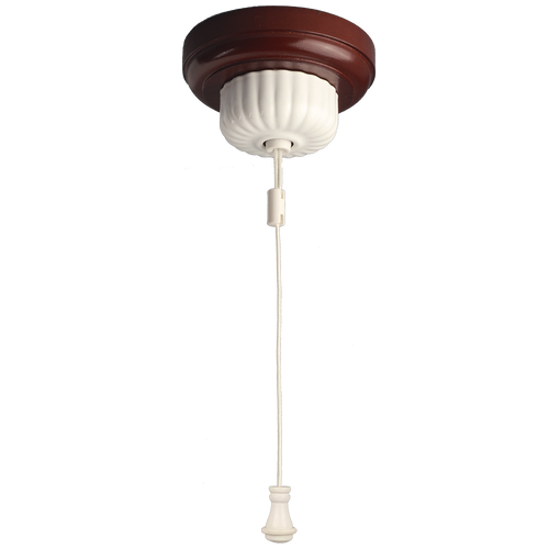 Fluted Ceiling Pull Switch White Powder Coated Cord Weight