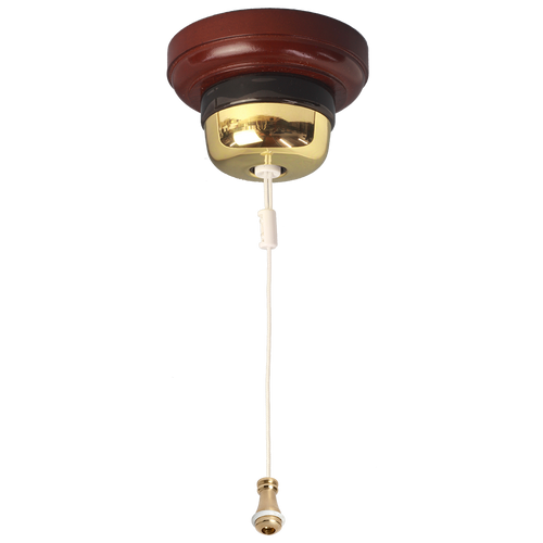 Ceiling Pull Switch Polished Brass
