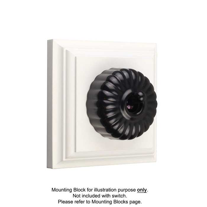 Black Clipsal Heritage Fluted Light Switches