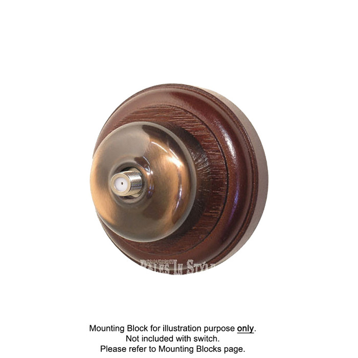 Old Heritage Clipsal Classic Pay TV Aerial Socket Smooth Covered - Florentine Bronze