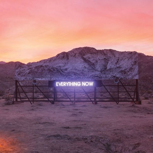 """RELEASED 2017  Celebrated and Grammy-nominated Canadian indie rock band Arcade Fire release their 5th album 'Everything Now!'  EVERYTHING NOW was produced by Arcade Fire, Thomas Bangalter and Steve Mackey, with co-production by Markus Dravs; and was recorded at Boombox Studios in New Orleans, Sonovox Studios in Montreal, and Gang Recording Studio in Paris.  Arcade Fire is Win Butler, Will Butler, Régine Chassagne, Jeremy Gara, Tim Kingsbury and Richard Reed Parry.  Arcade Fire released their seminal debut album """"Funeral"""" in 2004. Second album """"Neon Bible"""", third album """"The Suburbs"""" and fourth album """"Reflektor"""" all peaked in the top 10 in Australia, with """"The Suburbs"""" and """"Reflektor"""" both hitting #1 in Canada, US, and the UK.  Track Listing: SIDE A: Everything_Now (Continued) Everything Now Signs Of Life Creature Comfort Peter Pan Chemistry Infinite Content Infinite_Content SIDE B: Electric Blue Good God Damn Put Your Money On Me We Don't Deserve Love Everything Now (continued)"""