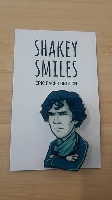 Shakey Smiles - Benedict Cumberbatch (Sherlock Holmes) - BADGE