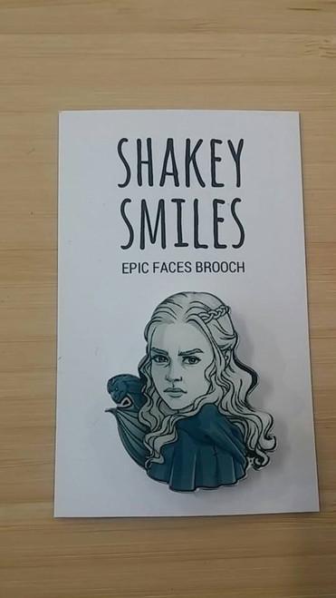 Shakey Smiles - Emilia Clarke (Daenerys Targaryen) BADGE