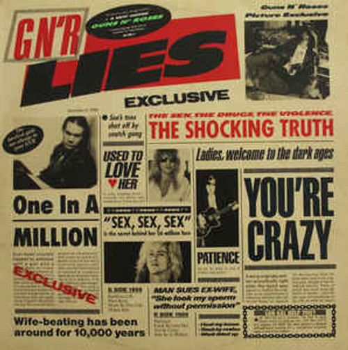 Guns N' Roses ‎– G N' R Lies - LP *USED*