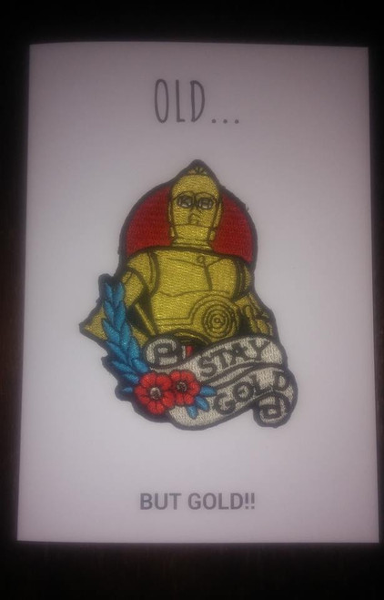 Shakey Smiles - C3PO  OLD... BUT GOLD!! - CARD/PATCH