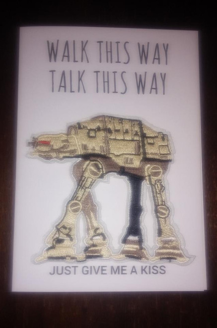 Shakey Smiles - WALK THIS WAY, TALK THIS WAY JUST GIVE ME A KISS - CARD/PATCH
