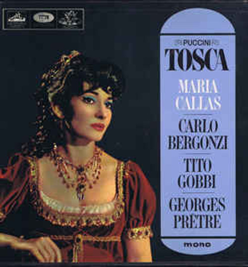 Giacomo Puccini, Maria Callas, Carlo Bergonzi, Tito Gobbi, Orchestre De La Société Des Concerts Du Conservatoire, Georges Prêtre – Tosca - 2LP *USED*