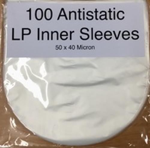 Anti-Static Plastic LP Inner Sleeves - PK100 *NEW*